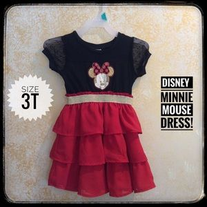 Disney Minnie Mouse Glitter embossed dress!